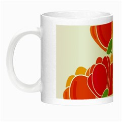 Orange Flowers  Night Luminous Mugs by Valentinaart
