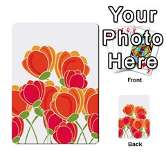 Orange Flowers  Multi Purpose Cards (rectangle)  by Valentinaart