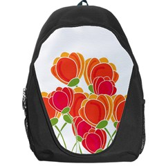Orange Flowers  Backpack Bag by Valentinaart