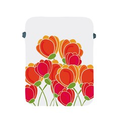 Orange Flowers  Apple Ipad 2/3/4 Protective Soft Cases by Valentinaart