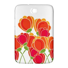 Orange Flowers  Samsung Galaxy Note 8 0 N5100 Hardshell Case  by Valentinaart