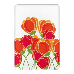 Orange Flowers  Samsung Galaxy Tab Pro 10 1 Hardshell Case by Valentinaart