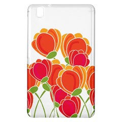 Orange Flowers  Samsung Galaxy Tab Pro 8 4 Hardshell Case by Valentinaart