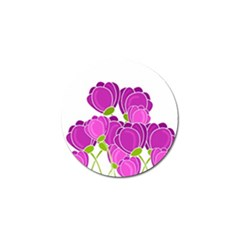 Purple Flowers Golf Ball Marker (10 Pack) by Valentinaart