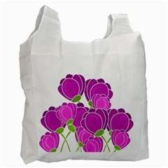 Purple Flowers Recycle Bag (one Side) by Valentinaart