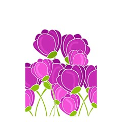 Purple Flowers Shower Curtain 48  X 72  (small)  by Valentinaart