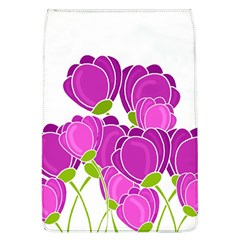 Purple Flowers Flap Covers (l)  by Valentinaart