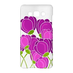 Purple Flowers Samsung Galaxy A5 Hardshell Case  by Valentinaart