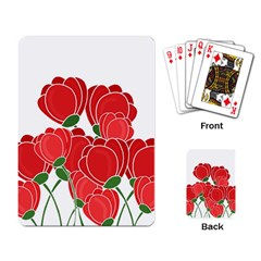 Red Floral Design Playing Card by Valentinaart