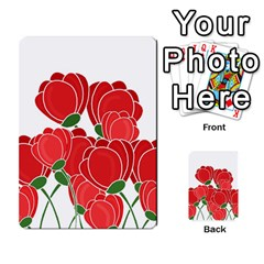 Red Floral Design Multi Purpose Cards (rectangle)  by Valentinaart