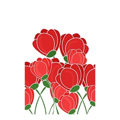 Red Floral Design Shower Curtain 48  X 72  (small)  by Valentinaart