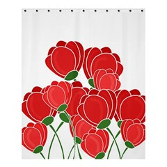 Red Floral Design Shower Curtain 60  X 72  (medium)  by Valentinaart