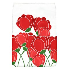 Red Floral Design Flap Covers (s)  by Valentinaart
