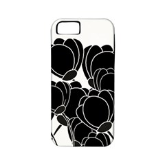 Black Flowers Apple Iphone 5 Classic Hardshell Case (pc+silicone)