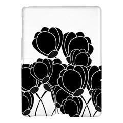 Black Flowers Samsung Galaxy Tab S (10 5 ) Hardshell Case  by Valentinaart