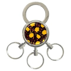 Yellow Roses  3 Ring Key Chains by Valentinaart