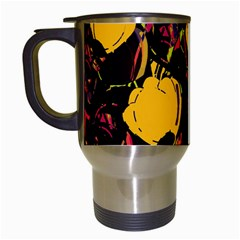 Yellow Roses  Travel Mugs (white) by Valentinaart