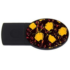 Yellow Roses  Usb Flash Drive Oval (4 Gb)  by Valentinaart
