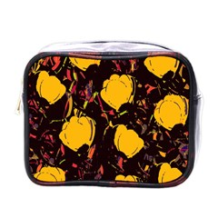 Yellow Roses  Mini Toiletries Bags by Valentinaart