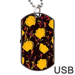 Yellow Roses  Dog Tag Usb Flash (two Sides)  by Valentinaart