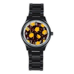 Yellow Roses  Stainless Steel Round Watch by Valentinaart