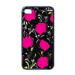 Pink Roses  Apple Iphone 4 Case (black)