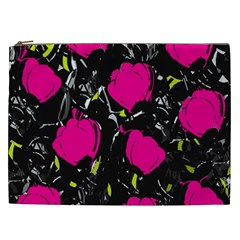 Pink Roses  Cosmetic Bag (xxl)  by Valentinaart