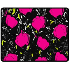 Pink Roses  Double Sided Fleece Blanket (medium)