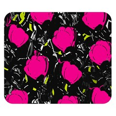 Pink Roses  Double Sided Flano Blanket (small)