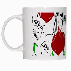 Red Roses 2 White Mugs by Valentinaart