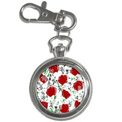 Red Roses 2 Key Chain Watches by Valentinaart