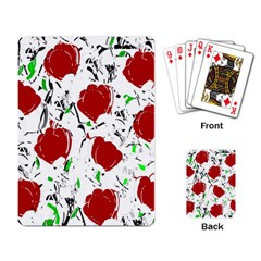 Red Roses 2 Playing Card by Valentinaart