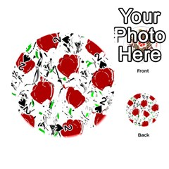 Red Roses 2 Playing Cards 54 (round)  by Valentinaart