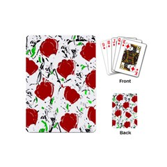 Red Roses 2 Playing Cards (mini)  by Valentinaart