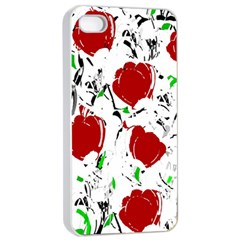 Red Roses 2 Apple Iphone 4/4s Seamless Case (white) by Valentinaart