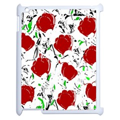 Red Roses 2 Apple Ipad 2 Case (white) by Valentinaart