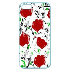 Red Roses 2 Apple Seamless Iphone 5 Case (color) by Valentinaart