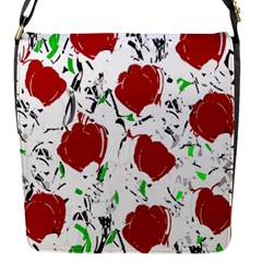 Red Roses 2 Flap Messenger Bag (s) by Valentinaart