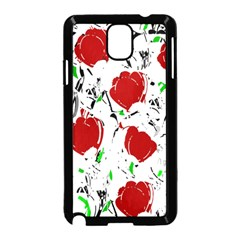Red Roses 2 Samsung Galaxy Note 3 Neo Hardshell Case (black) by Valentinaart