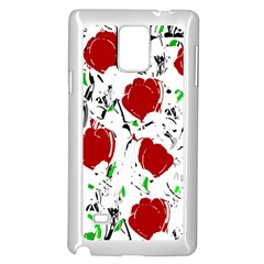 Red Roses 2 Samsung Galaxy Note 4 Case (white) by Valentinaart