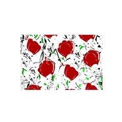 Red Roses 2 Satin Wrap by Valentinaart