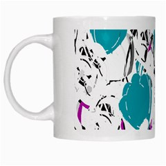 Cyan Roses White Mugs by Valentinaart