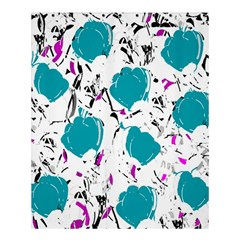 Cyan Roses Shower Curtain 60  X 72  (medium)  by Valentinaart