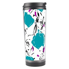 Cyan Roses Travel Tumbler by Valentinaart
