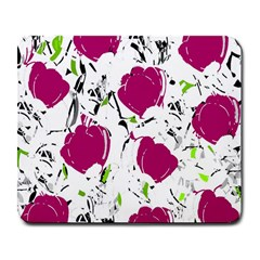 Magenta Roses Large Mousepads by Valentinaart