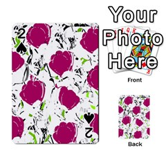 Magenta Roses Playing Cards 54 Designs