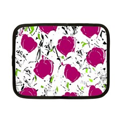 Magenta Roses Netbook Case (small)