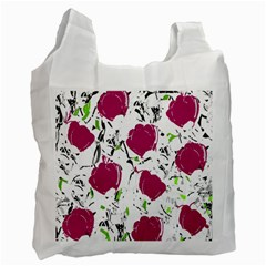 Magenta Roses Recycle Bag (one Side) by Valentinaart