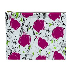 Magenta Roses Cosmetic Bag (xl) by Valentinaart