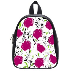 Magenta Roses School Bags (small)  by Valentinaart